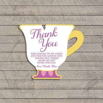 Princess Tea Party Birthday Thank You Cards