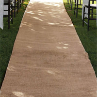 Burlap Aisle Runner Beach Garden Wedding, 36-inch x 100-feet, Natural