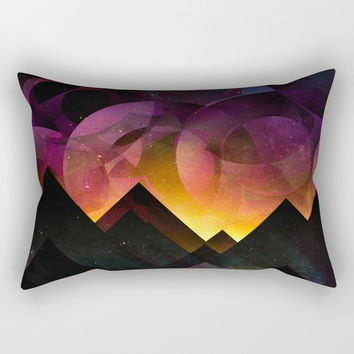 Whimsical mountain nights Rectangular Pillow by HappyMelvin