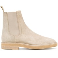 White Sand Constructed Suede Chelsea Boots by YEEZY