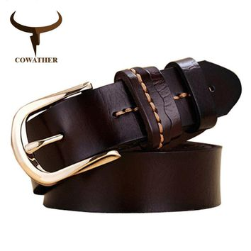 COWATHER 2017 Women cow genuine leather belt