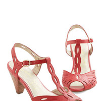 Seychelles Vintage Inspired Trip the Light Heel in Red