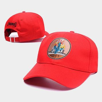 cc auguau Travis Scott Madness Tour Rodeo Cactus Red Hat