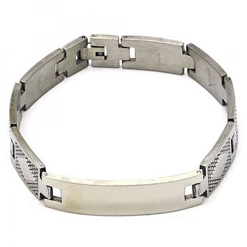 Stainless Steel 03.114.0292.09 ID Bracelet, Polished Finish, Steel Tone