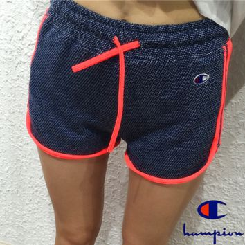 champion Fashion hot contrast print shorts