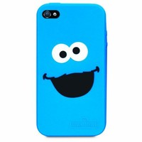 iSound ISOUND-4667 Sesame Street Cookie Monster Silicone Case for iPhone 4/4S - 1 Pack - Retail Packaging - Blue