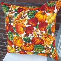 Harvest Pillow Cover 16 X 16 Upcycled