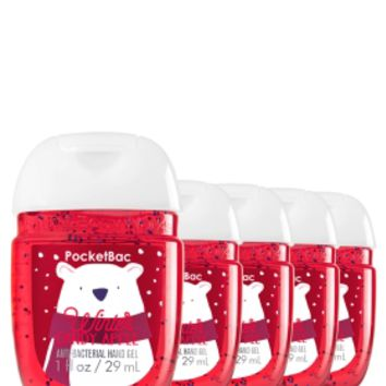 5-Pack PocketBac Sanitizers Winter Candy Apple