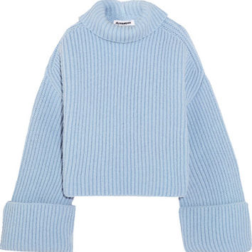 Jil Sander - Oversized ribbed wool-blend turtleneck sweater