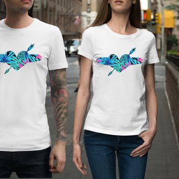Tropical Flying Arrow Heart Unisex Shirt