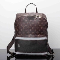 LV Women Casual School Bag Cowhide Leather Backpack I-MYJSY-BB-2