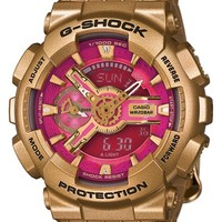 G-Shock 'Accent S-Series' Resin Ana-Digi Watch, 49mm - Gold/ Pink