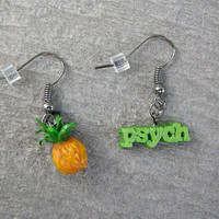 Psych TV Series Pineapple Earrings