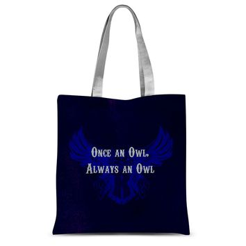 """Blue Houston University """"Once an Owl, Always an Owl"""" Sublimation Tote Bag"""