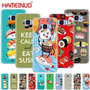 HAMEINUO Japanese cuisine Sushi food cell phone case cover for Samsung Galaxy S9 S7 edge PLUS S8 S6 S5 S4 S3 MINI