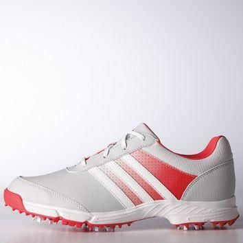 Adidas Ladies Tech Response Golf Shoes - Clear Grey/Ftwr White/Core Pink