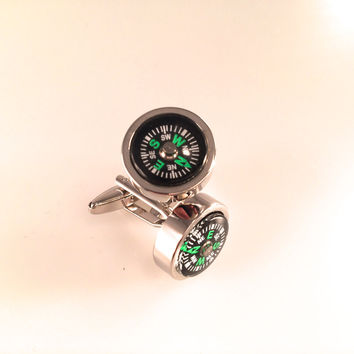 Compass Cuff Links - Mens Cufflinks - Finding Your Way Cufflinks