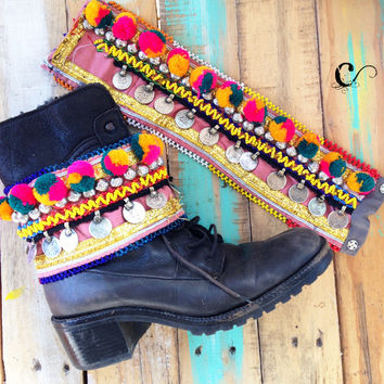 Nora Tribal Boot Belt (Pair)