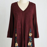 Mid-length Long Sleeve Bordeaux of Directors Top