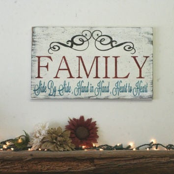Awesome Family Wood Sign Distressed Wood Sign Photo Display Wall Sign Shabby Chic  Decor Rustic Wood Sign