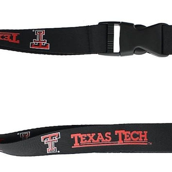 Texas Tech Red Raiders Lanyard Keychain Keyring Badge Holder Licensed Breakaway