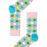 Fun cool socks at Happy Socks for happy people. Orange, white, blue & green Big Dot