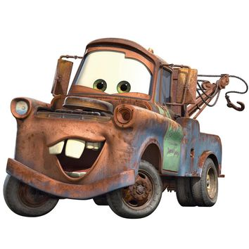 Disney Cars Tow Mater Self-Stick Wall Accent Decal