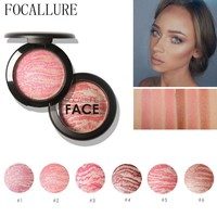 FOCALLURE Make Up Blushes Face Bronzer Blushes Powder Cosmetic Natural Base Makeup Highlighter Face Contour Blush Palette
