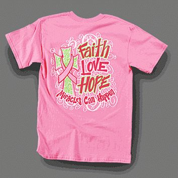 Sweet Thing Funny Miracles Can Happen Faith Girly Bright T Shirt