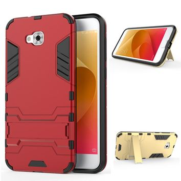 For Asus ZenFone Live ZB553KL Case Stealth Stents Back Cover Stand Cases For Asus ZB553KL X00LDA X00LDB 5.5 inch T Phone Case