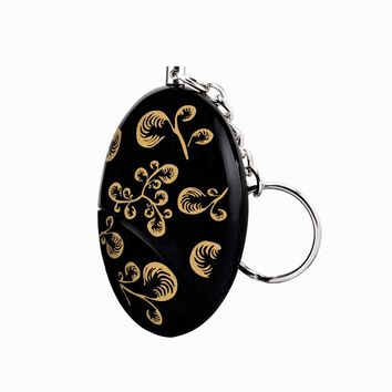 2017 self defense Keychain alarm Emergency  personal alarm Batteries Included Black gold color printing and Waterproof