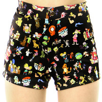90'S CARTOON BOOTY SHORTS - PREORDER