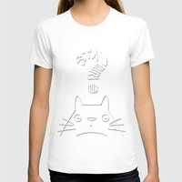 Stay Curious | Serenity & Rose Quartz T-shirt by Miss L In Art