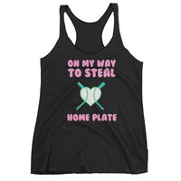 On My Way To Steal Home Plate Women's tank top