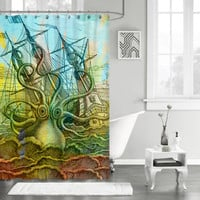"New Octopus Vintage Ship Art Design Custom Shower Curtain 66"" x 72"""