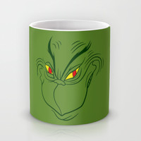 Green Grinning Grinch Mug by LookHUMAN