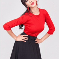 Pull Over Sweater Red | Bettie Page Clothing