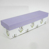 Crabtree & Evelyn Boxed Lavender Drawer Liners | Scented Drawer Paper White and Purple | Lavender Shelf Paper | Feminine and Pretty
