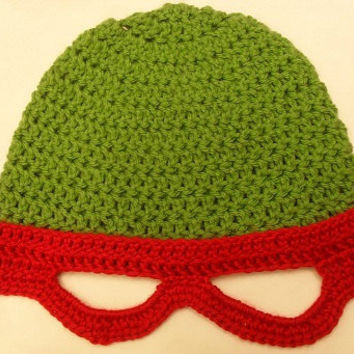 Teenage Mutant Ninja Turtles Inspired Crochet Hat Pattern PDF