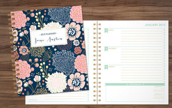 2015 planner custom planner student from shpplanners on etsy for Custom photo planner