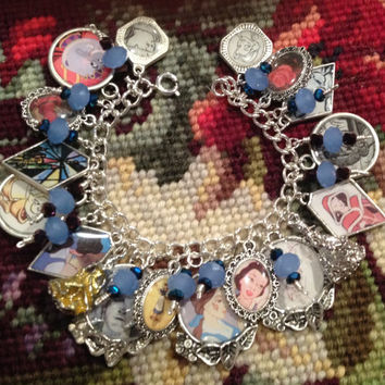 Disney's The Making of Beauty and the Beast Altered Art Charm Bracelet