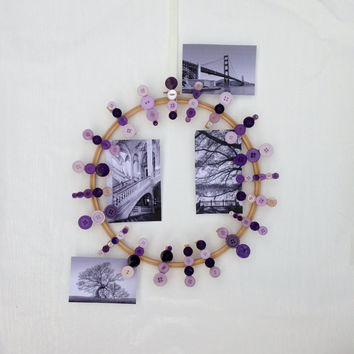 Purple Photo Holder, Picture Frame, Handmade Photo Frame, Photo Wall, Photo Frame Collage, Picture Frame Collage, Home Décor, Room Décor