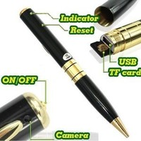 2GB Card + Mini Camera Cam Pen Hidden Video Camera Recorder DV DVR ,Support Micro Sd Card 4GB 8GB