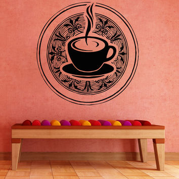 Vinyl Wall Decal Sticker Tea Cup #OS_AA1450