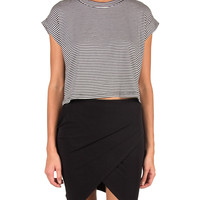 Cut Off Striped Tee - Small