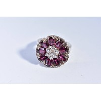 Vintage Handmade Pink Tourmaline 925  Sterling Silver gothic Ring
