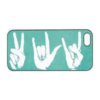 Peace Love Rock For iphone 5S case, iphone 4 Case, iphone 4S,iphone 5 case ,Iphone 5c case,samsung galaxy S3 case,samsung S4,Ipod 5 case