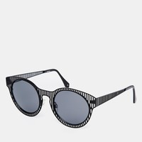 ASOS Sunglasses With Laser Cut Stripe