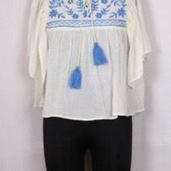 Marina Embroidered Top