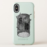 Tree Log With Mysterious Forest Creatures OtterBox Symmetry iPhone X Case